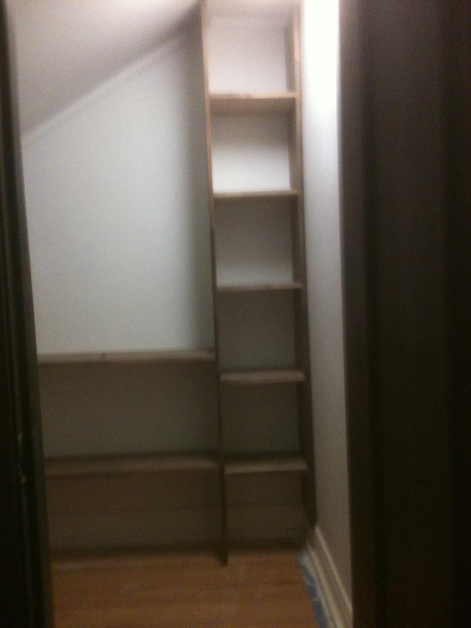 closet shelves. Black Bedroom Furniture Sets. Home Design Ideas